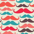 Hipsters mustache seamless pattern