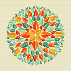 Leaves yoga mandala