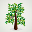 Trendy concept tree design