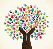 Tree design kolorowe solidarności