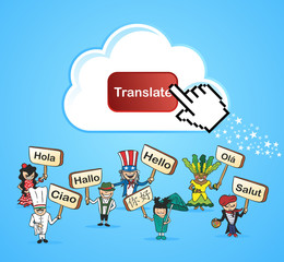Global people translate concept