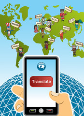 Global translation app concept