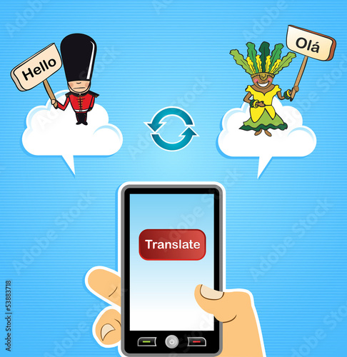 Cloud computing translation concept