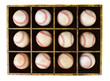 Baseballs in Wood Box