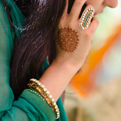 henna design, wedding, bride , Rajasthan, India