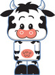 Cute Cow Cartoon Character