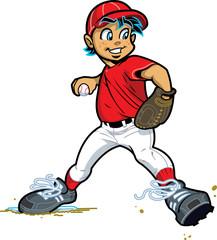 Boy Baseball Pitcher