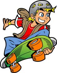 Boy Doing Skateboard Jump