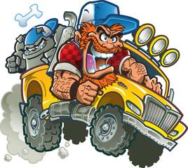 Crazy Redneck In Pickup Truck