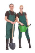 Couple Of Garden Worker