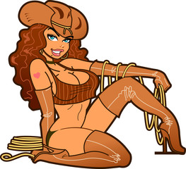 Sexy Leather Cowgirl