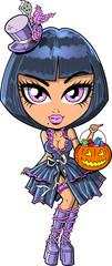 Trick Or Treat Goth Girl