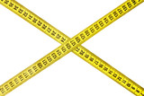 Criss-cross measuring tape