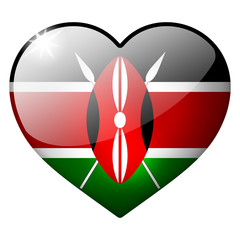 kenya heart button
