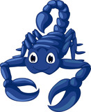 cute blue scorpion cartoon