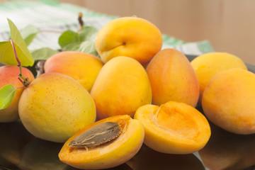 Fresh large apricot