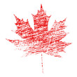 Grunge Maple Leaf