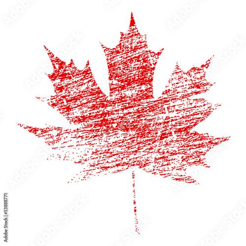 Grunge Maple Leaf