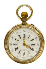 French Antique Gold Pocket Watch