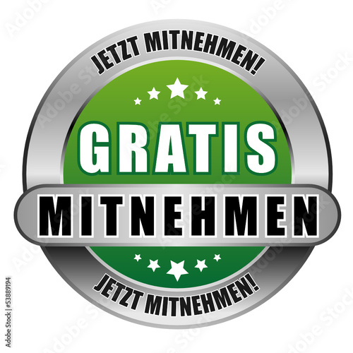 5 Star Button gruen GRATIS MITNHEMEN JM JM