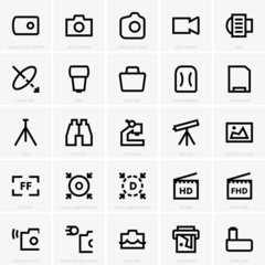 Photo and optical icons