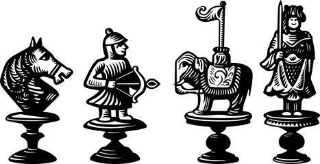 Old chessmen