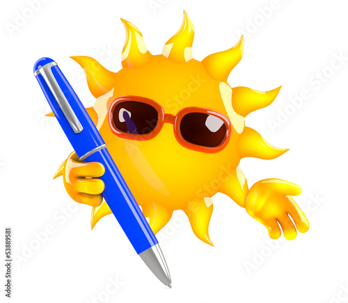 Sunshine has a pen