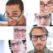 Collage of different pictures of attractive men
