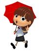 雨の日の通学