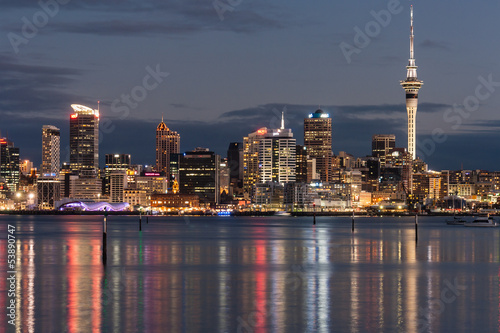 Papiers peints Nouvelle Zélande Auckland CBD at night