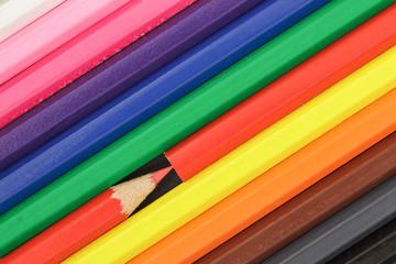Buntstifte diagonal