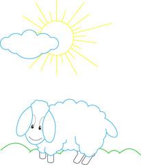 Sheep countour illustration