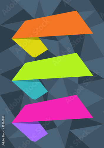 Vector design elements on abstract background