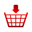 icon for an online shop on a white background