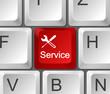 Tastatur Taste rot Service