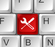 Tastatur Taste rot Werkzeug