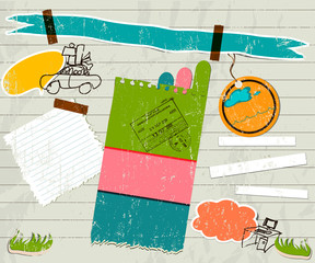 scrapbook details set.