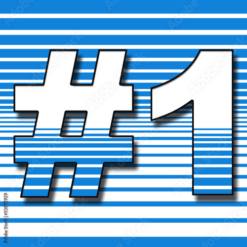 Number 1 Stripe Background