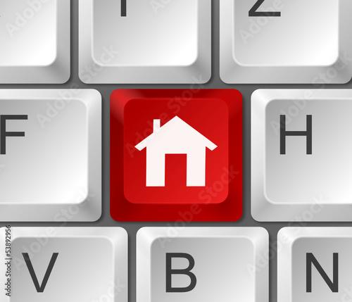 Tastatur Haus rot