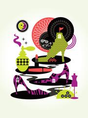 Women Fashion Concept Illustration