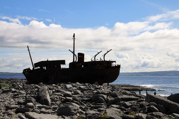 Shipwreck boat in Inisheer, Aran Islands