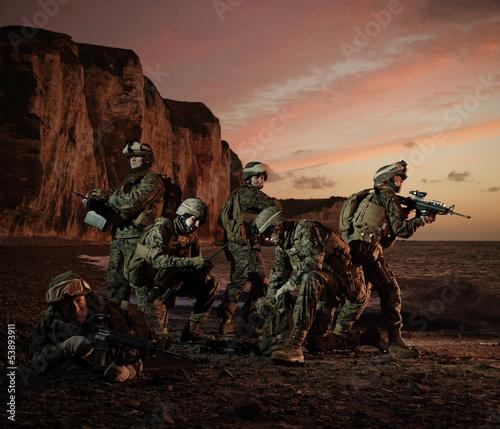 ladowanie-amerykanskich-marines-w-normandii-regro