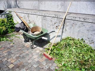 Gartenarbeit - Hecke schneiden