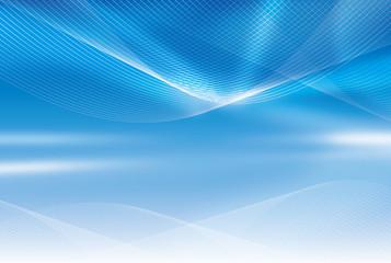 青い空間と閃光