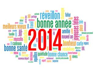 Carte de Vœux 2014 (bonne année joyeuses fêtes nouvel an voeux)