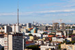 panorama of Moscow with TV tower