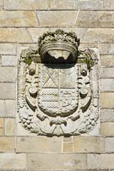 Heraldic shield on Vilagarcia de Arousa