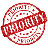 priority red stamp poster