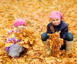 Children in autumn