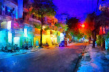 Fototapety Evening street